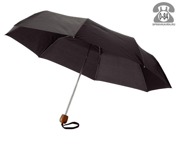 Зонт складной механический чёрный мужской Китай