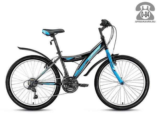 """Велосипед Форвард (Forward) Dakota 26 1.0 (2017) размер рамы 15.5"""" черный"""