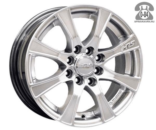 """Диск РВ (Racing Wheels) H-158 15"""" ширина 6.5"""" крепежных отверстий 10 диаметр расположения отверстий 98 мм вылет колеса (ET) 35 мм диаметр центрального отверстия 73.1 мм"""