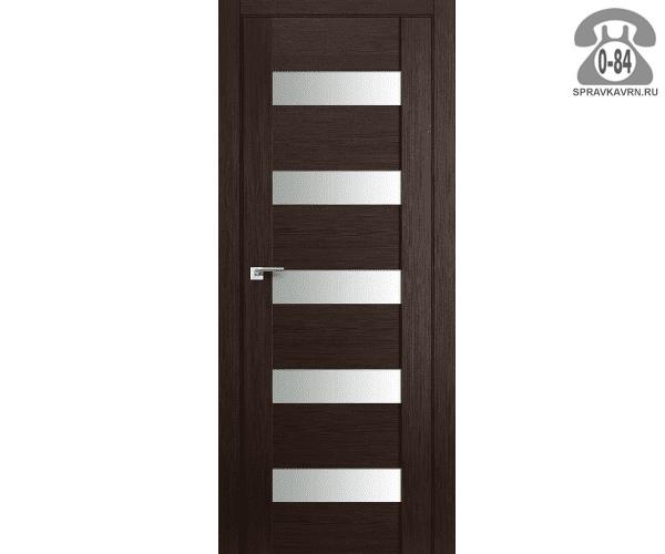 Межкомнатная деревянная дверь ЭльПорта, фабрика (el PORTA) Порта-23 Magic Fog остеклённая 80 см Венге Вералинга (Wenge Veralinga)