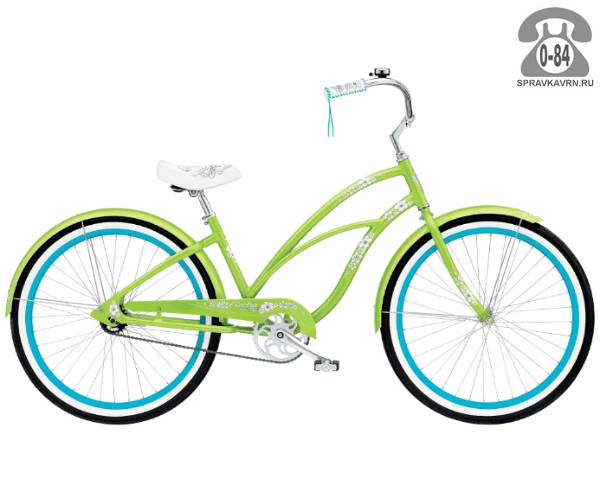 "Велосипед Электра (Electra) Cruiser Hawaii 3i Ladies (2016) размер рамы 17"" зеленый"