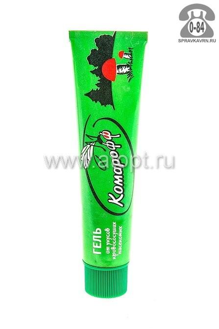 Средство от насекомых Комарофф гель от комаров Россия