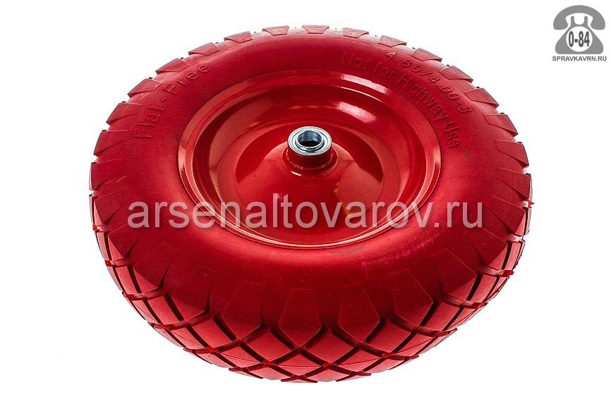 Колесо для тележки садовой PU 4,80/4,00*80 D 20 мм