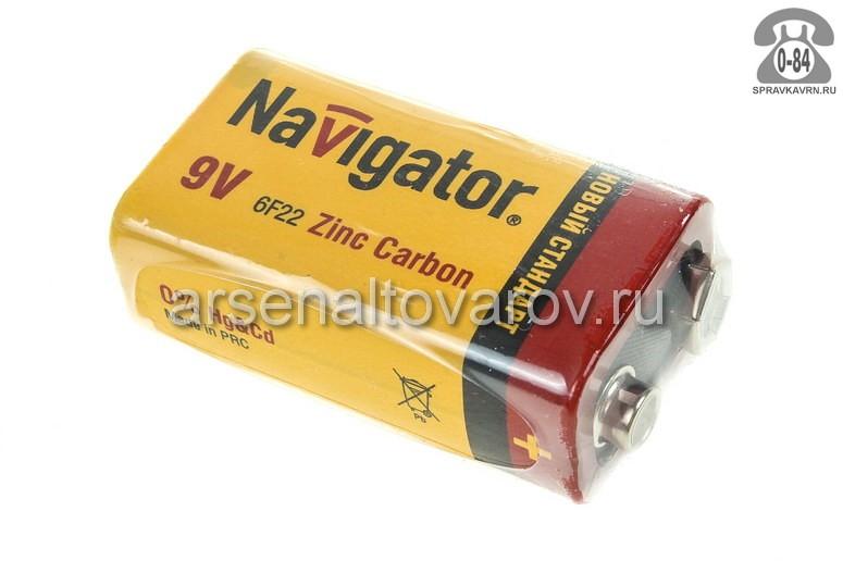 Батарейка Навигатор (Navigator) 6F22 9 В 1 шт. Китай