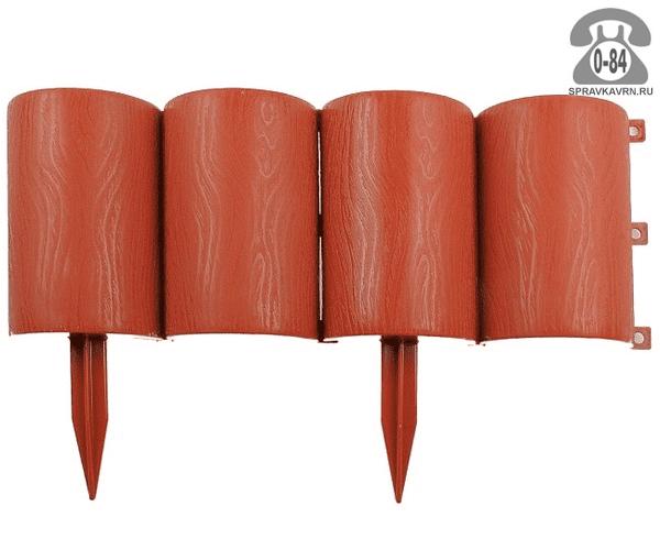 Бордюр садовый Альтернатива Брёвнышки, 38x19 см, коричневый