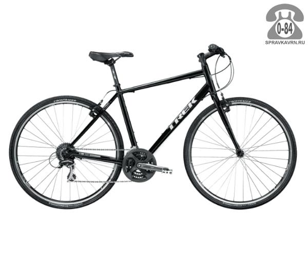 """Велосипед Трек (Trek) 7.2 FX (2016), рама 23"""", черный размер рамы 23"""" черный"""