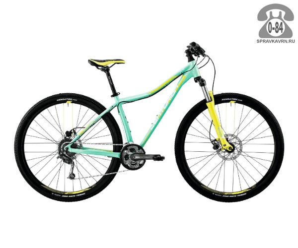 "Велосипед Центурион (Centurion) EVE Pro 100.27 (2017) размер рамы 15.5"" голубой"
