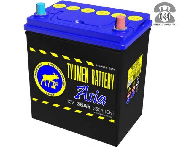 Аккумулятор для транспортного средства Тюмень Бэттери (Tyumen Battery) 12 В 38 А*час