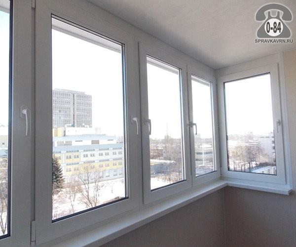 Распашные балконы из пластика фото..