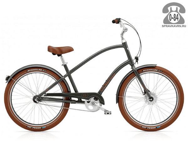 Велосипед Электра (Electra) Townie Balloon 3i EQ Men's (2016) коричневый