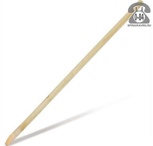 Черенок деревянный 40 мм 1500 мм для лопаты высший шлифованная Россия