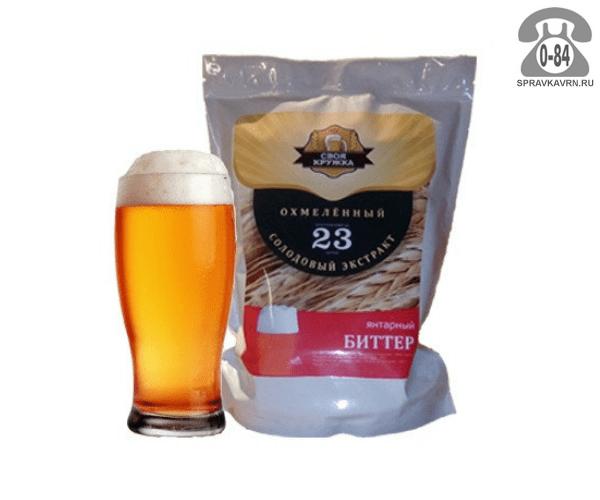 Экстракт солодовый для мини-пивоварен Своя Кружка Янтарный Биттер 23 л Россия