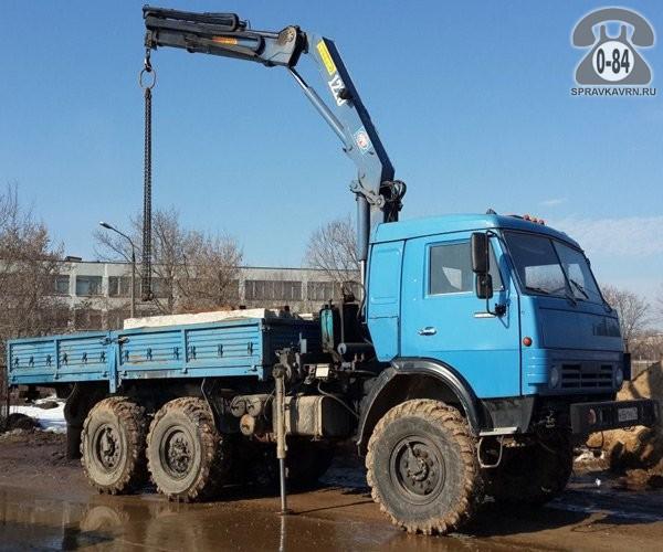 Автомобиль-самопогрузчик - предоставление для перевозки грузов КАМАЗ (KAMAZ) 3 т