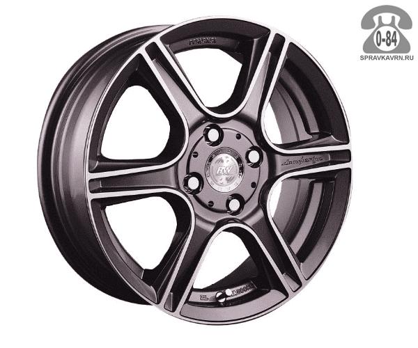 """Диск РВ (Racing Wheels) H-125 15"""" ширина 6.5"""" крепежных отверстий 4 диаметр расположения отверстий 100 мм вылет колеса (ET) 40 мм диаметр центрального отверстия 73.1 мм"""