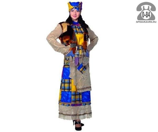 Костюм Баба Яга Карнавал-Премьер.Бархат женский 46 1101 Батик