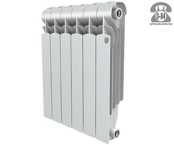 Радиатор отопления Роял Термо (Royal Thermo) алюминиевый секционный 1 500 мм 570 мм 320 мм 80 мм