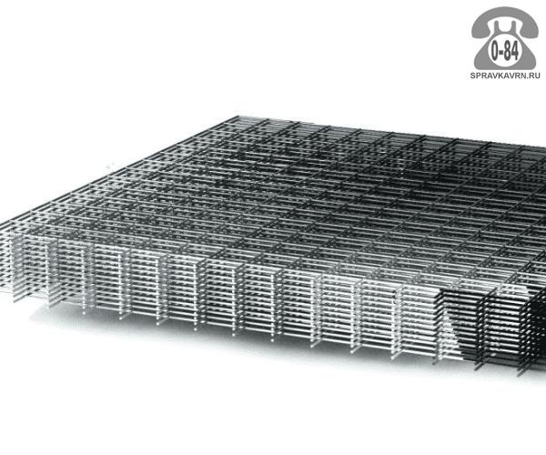 Сетка строительная сварная сталь нержавеющая 2.6 мм 150 мм 150 мм