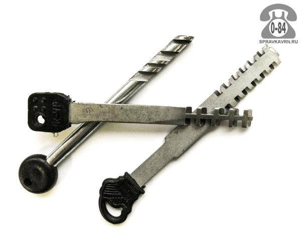 Ключ реечный (ригельный) для гаражного замка по ключу-оригиналу изготовление на заказ