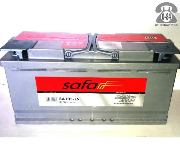 Аккумулятор для транспортного средства Сафа (Safa) 6СТ-105 полярность обратная, 394*175*190мм