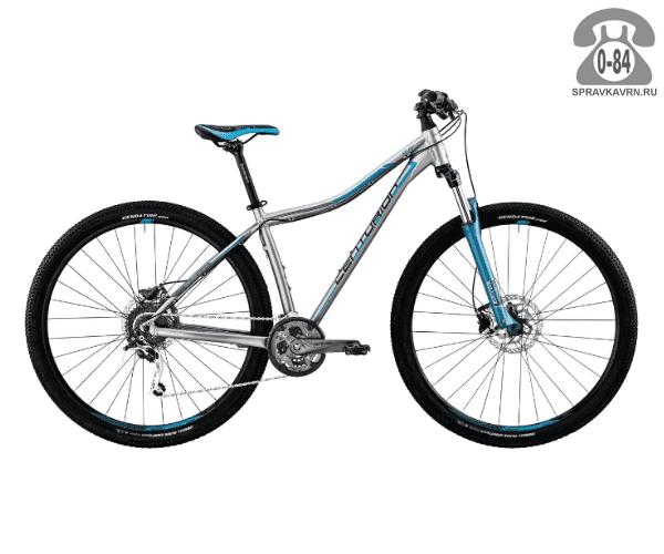 "Велосипед Центурион (Centurion) EVE Pro 200.27 (2017) размер рамы 17.5"" серый"