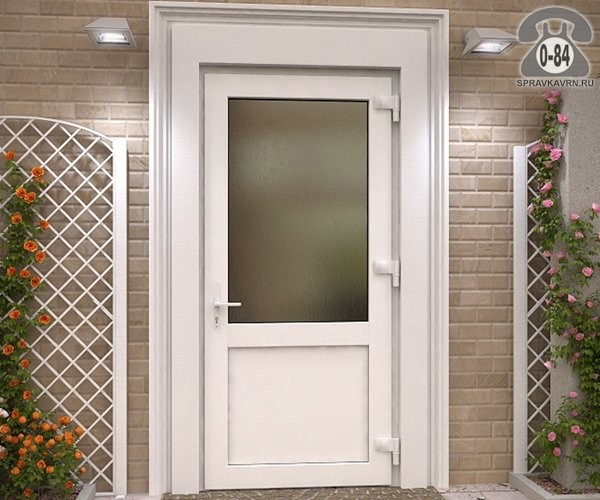 двери пвх входные проем