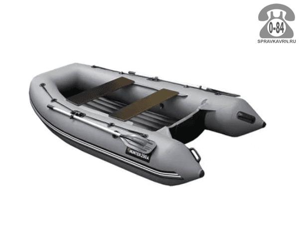 Лодка надувная Hunterboat Хантер 290 Р, серый 290061
