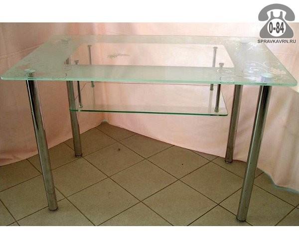Изготовление компьютерных столов из стекла на заказ.