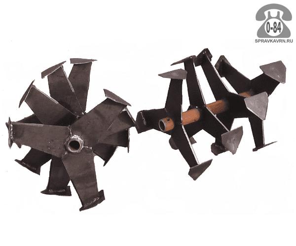 Фреза для мотоблока Целина Гусиные лапки 390 мм диаметр фрезы 335 мм ступицы 25 мм для мотоблока Угра (Ugra)
