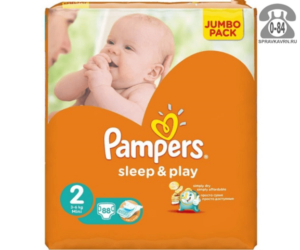 Подгузники для детей Памперс (Pampers) Sleep & Play 3-6 кг (88) 3-6, 88шт.