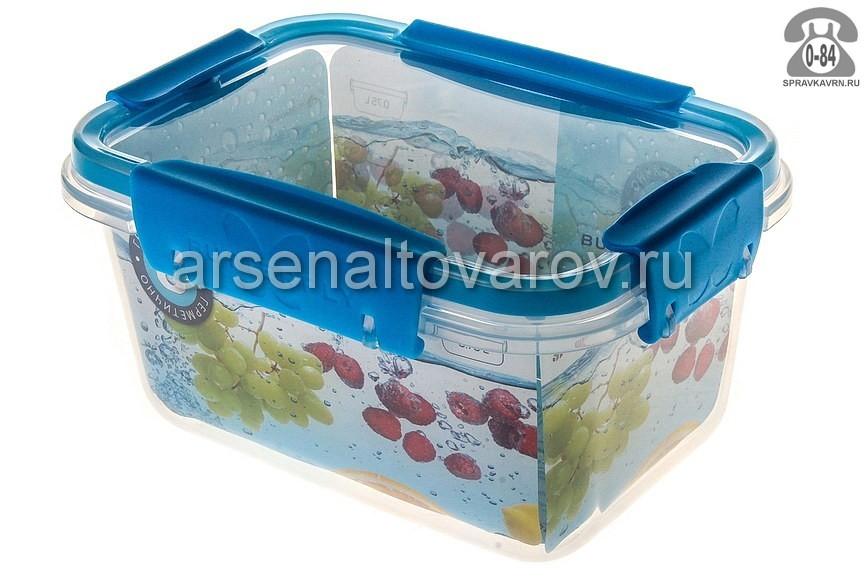 емкость для продуктов пластмассовая 0,75 л с защелками Баттерфляй (С78206) прозрачная (Полимербыт)