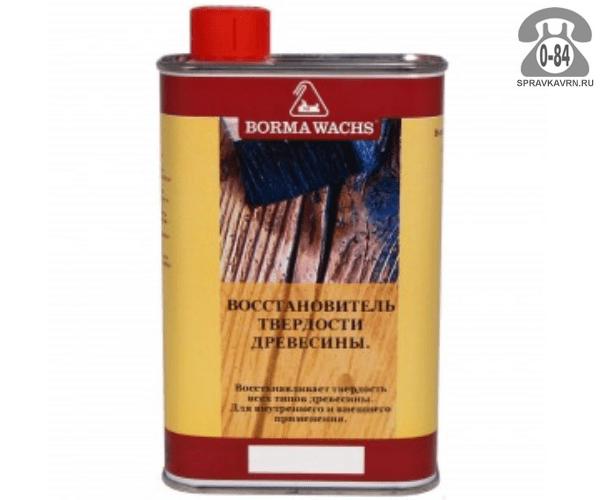 Пропитка Борма Ваш (Borma Wachs) смола для дерева восстановитель твердости 0.5 л для внутренних и наружных работ быстросохнущая Италия