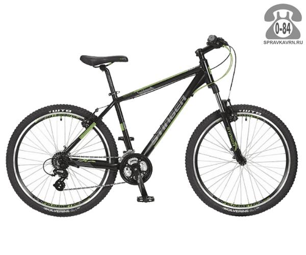 """Велосипед Стингер (Stinger) Reload 26"""" (2017), рама 16.5"""", черный размер рамы 16.5"""" черный"""