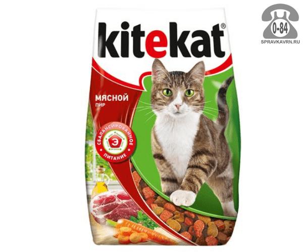 Корм для животных Китикэт (Kitekat) Мясной пир (1,9 кг) 40433