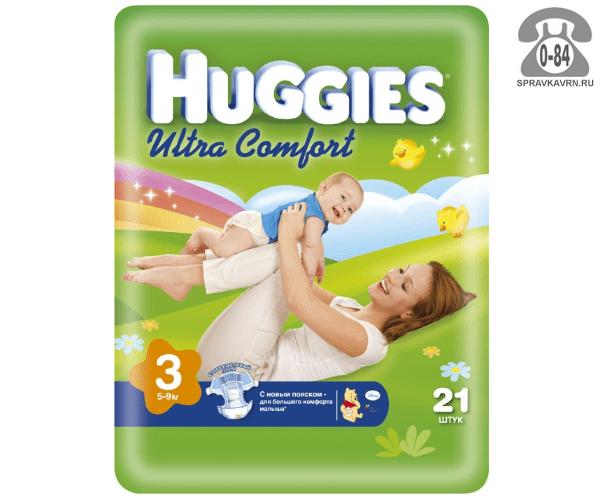Подгузники для детей Хаггис (Huggies) Ultra Comfort 5-9 кг (21) 5-9, 21шт.