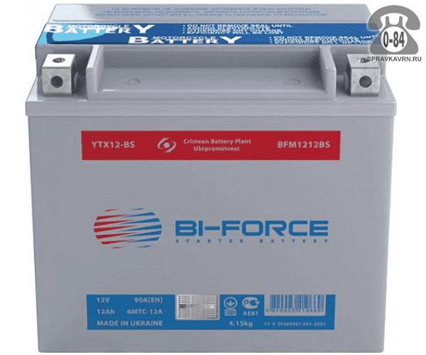 АКБ автомобильная Bi-Force BFM 4 А*час