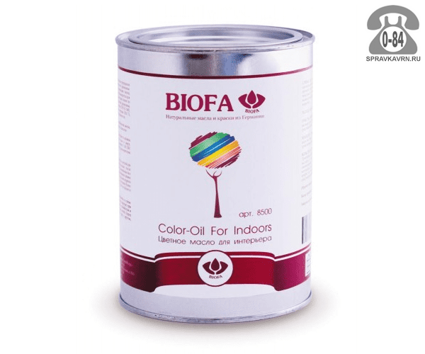 Мастика Биофа (Biofa) Color-Oil For Indoors 1л коричневый