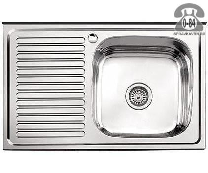 Мойка кухонная прямоугольная нержавеющая сталь 50 см 40 см 0.4 мм Россия
