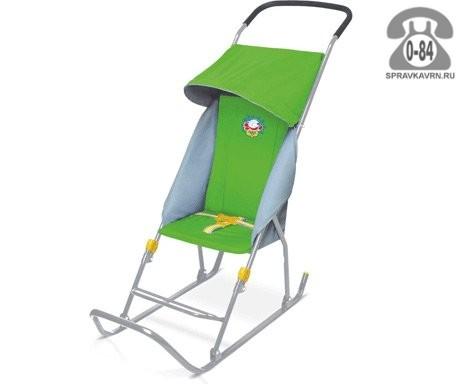 Санки Ника Умка 1К зеленые для одного ребенка
