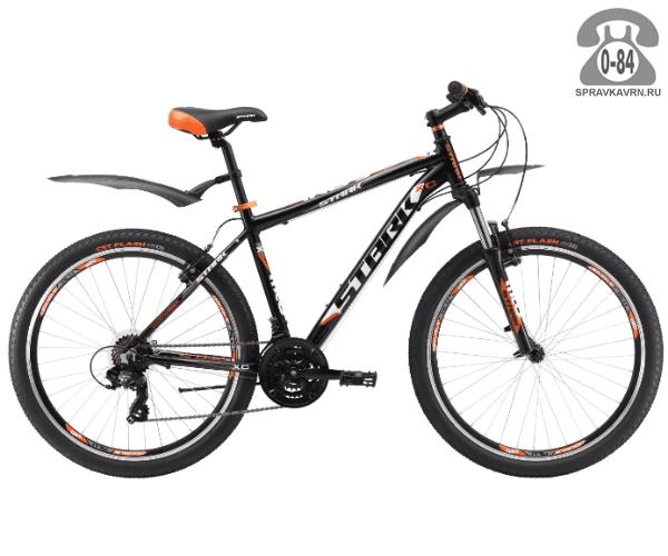 """Велосипед Старк (Stark) Indy 26.2 V (2017), рама 18.5"""" размер рамы 18.5"""" черный"""