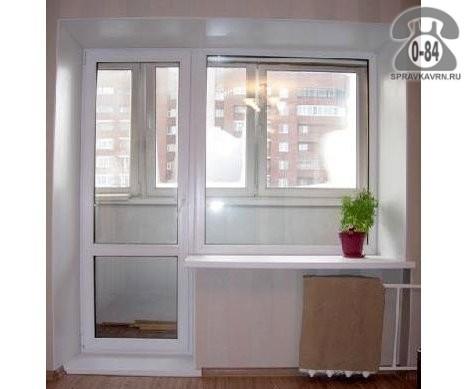 Балконное окно с дверью veka трехкамерное от компании гринла.