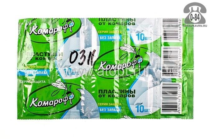 Пластина для фумигатора Комарикофф от комаров