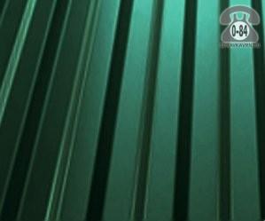 Профнастил С21 зеленый лист  1000x0.5 мм полимерное