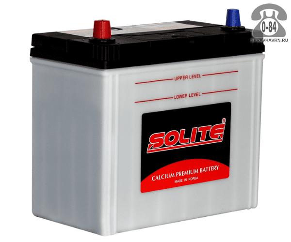 Аккумулятор для транспортного средства Солайт (Solite) 6СТ-50 обратная полярность 237*128*225 мм