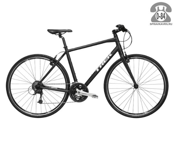 """Велосипед Трек (Trek) 7.4 FX (2016), рама 23"""", черный размер рамы 23"""" черный"""