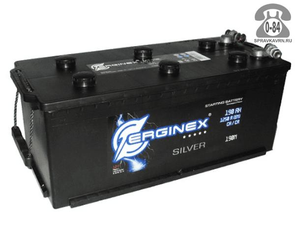 Аккумулятор для транспортного средства Эрджинекс (Erginex) 6СТ-190 (конус) прямая полярность 518*240*242 мм
