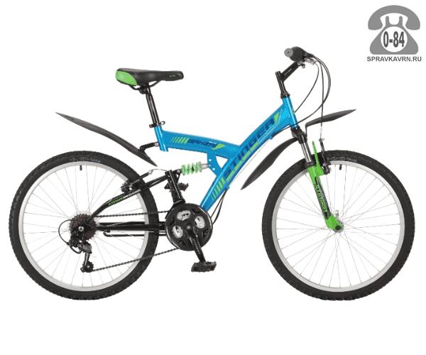 """Велосипед Стингер (Stinger) Banzai 24 (2017), рама 14.5"""" размер рамы 14.5"""" синий"""