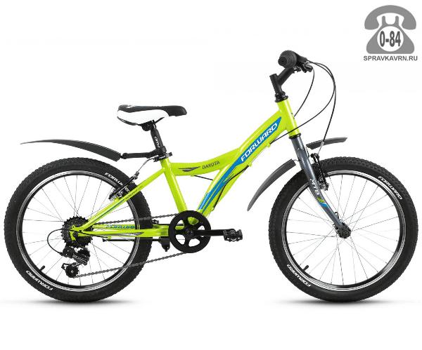"""Велосипед Форвард (Forward) Dakota 20 1.0 (2017) размер рамы 10.5"""" зеленый"""