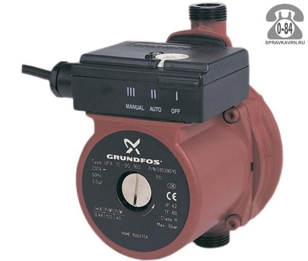 Насос повышения давления воды для систем отопления и горячего водоснабжения Грундфос (Grundfos) UPA (УПА)
