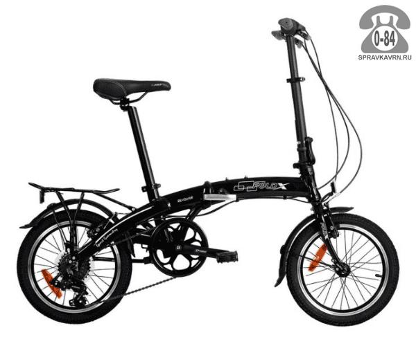 Велосипед Фолдикс Slider (2017) взрослый черный