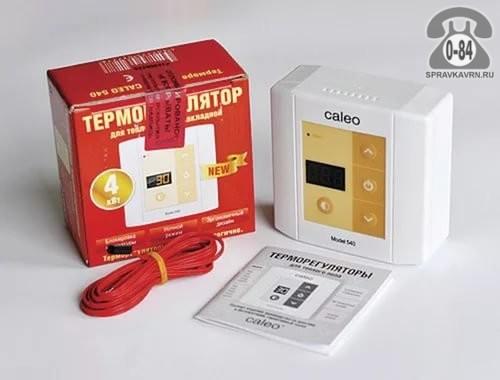 Терморегулятор для тёплого пола Калео (Caleo) 540 непрограммируемый кнопочный белый выносной 2 м 0-+40 Корея, республика (Южная Корея)